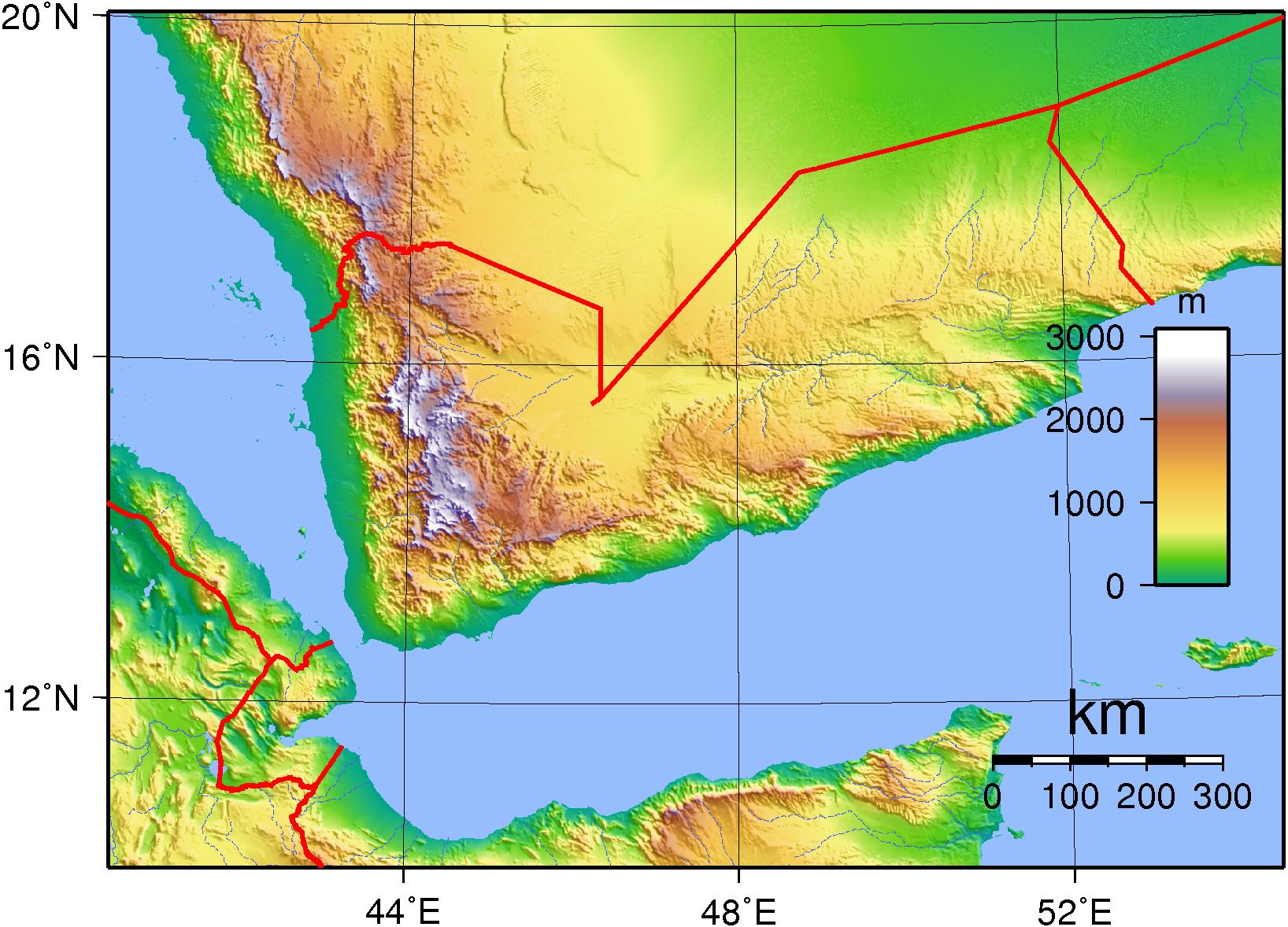 Yemen Topography