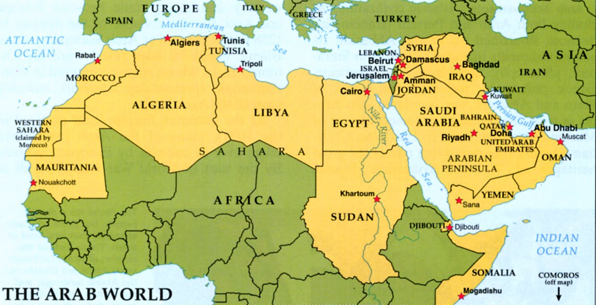 Foreign policy archives page 2 of 3 martinsidwell arab world map when arab independence came mostly during or after ww2 and often with a ruler chosen by their imperial master egypt syria and iraq made gumiabroncs Choice Image