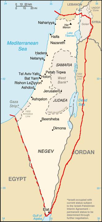 Israel Faisal-Weizmann Map