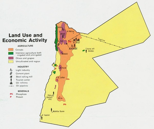 Jordan Land Use Map