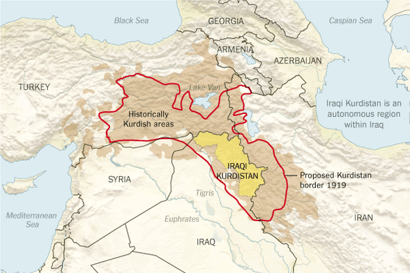 Kurdish Areas Map 2