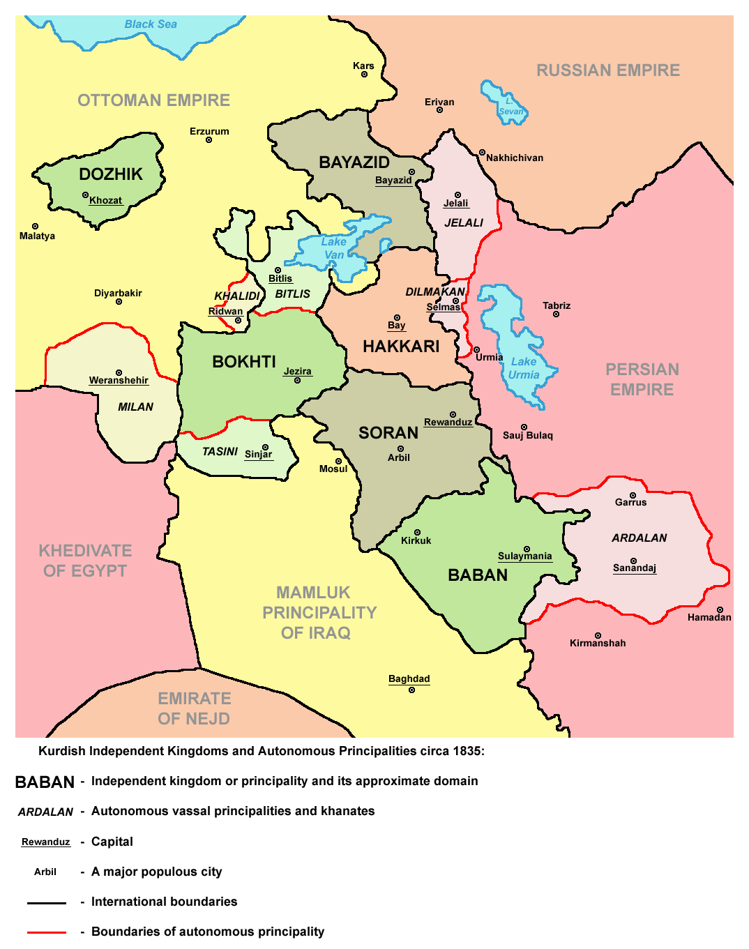 Kurdish States 1835