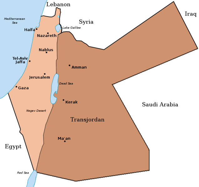 Palestine and Transjordan Map