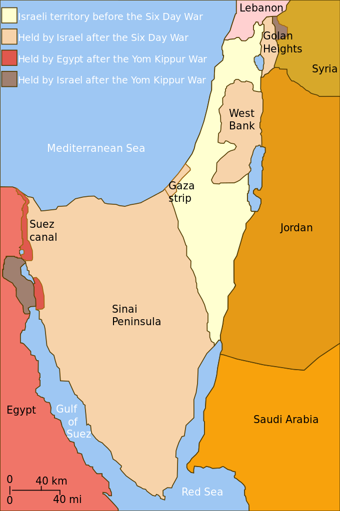 Yom Kippur War map