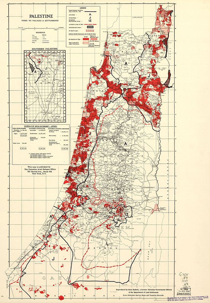 Jewish Owned Land in Palestine 1945