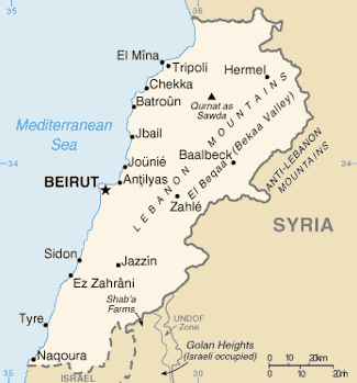 Lebanon Simple Map