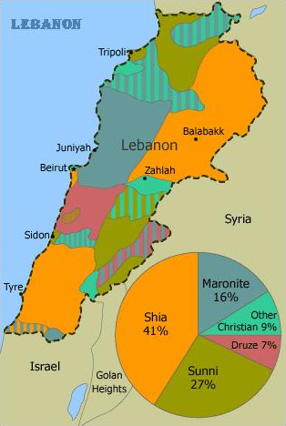 Lebanon_sectors_map