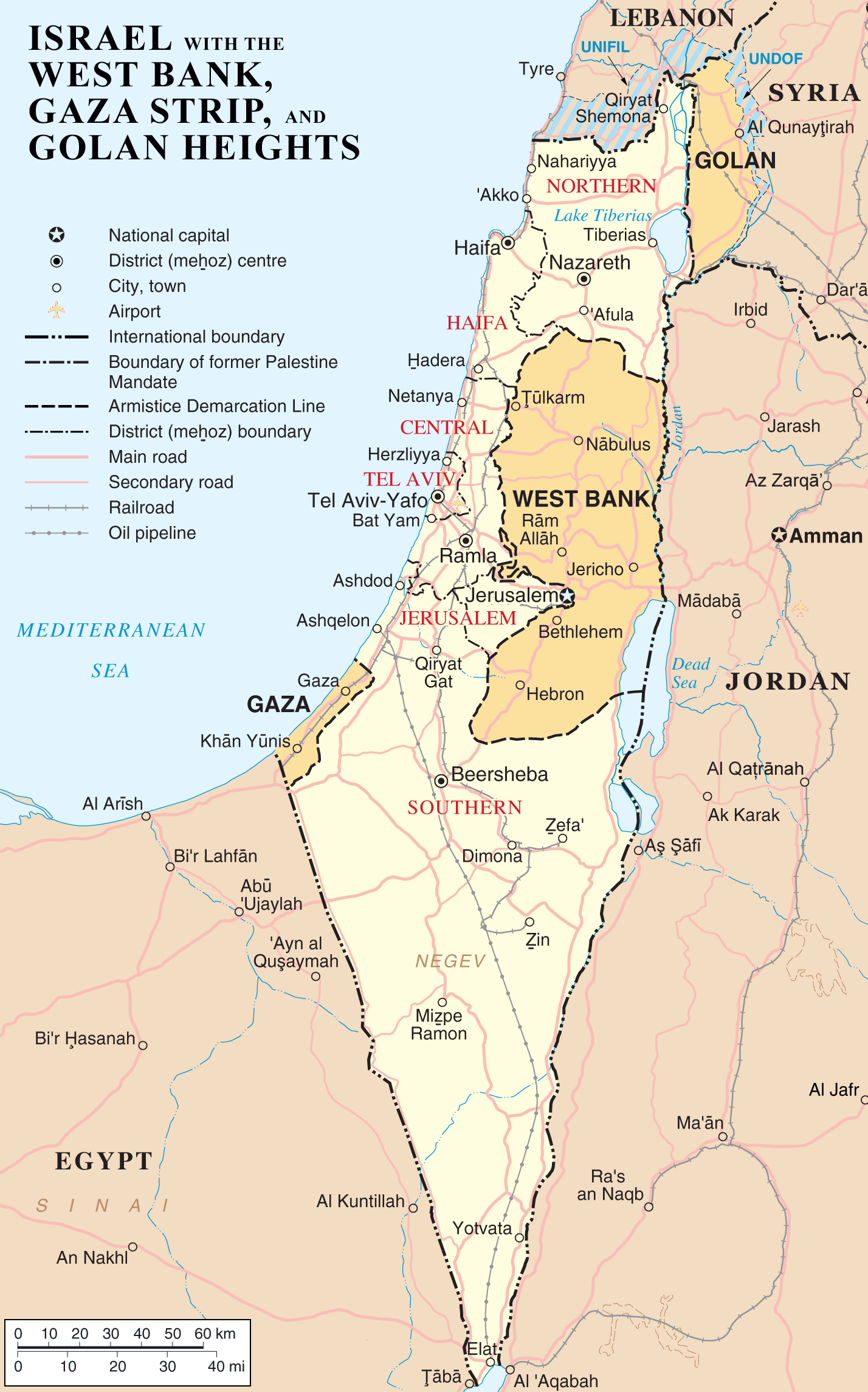 Palestine and Israel Map Now