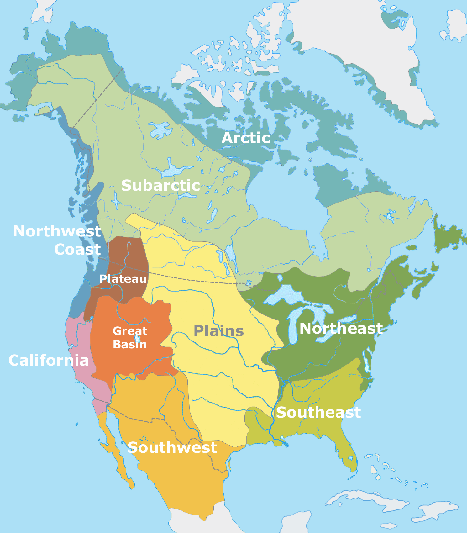 Pre-Columbian USA Culture Map