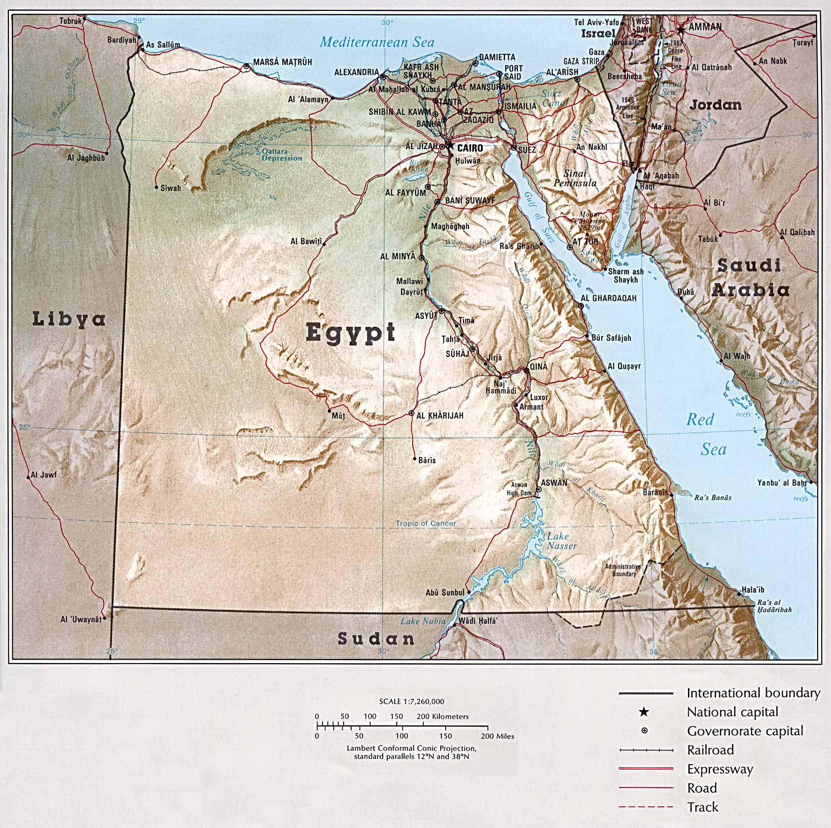 Egypt Detail Map