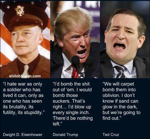 Ike, Trump and Cruz