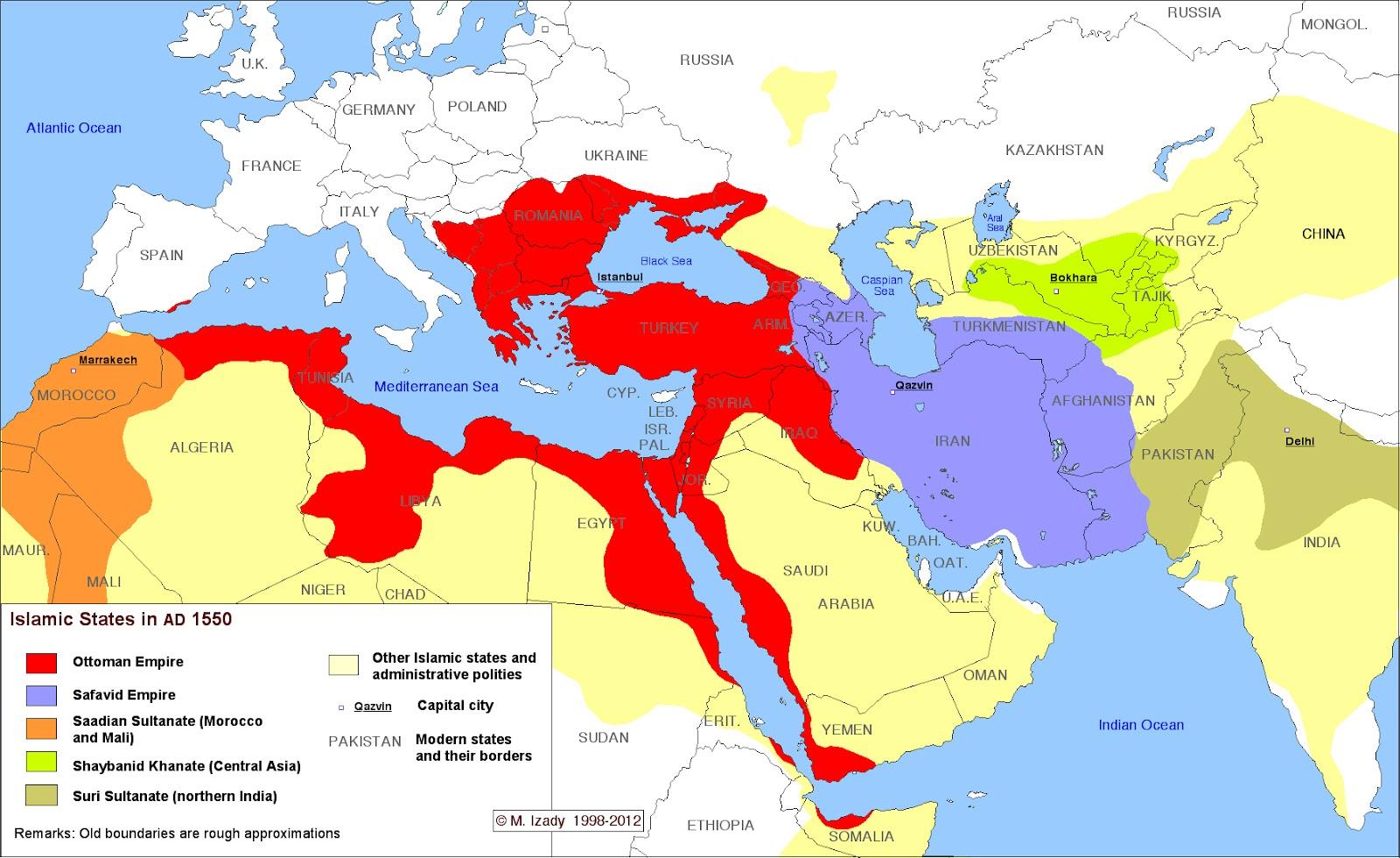 Islamic States 1550
