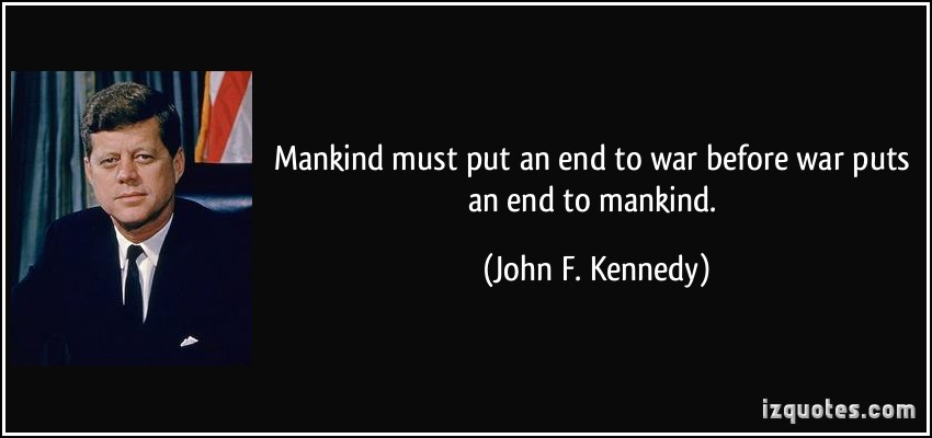 jfk war quote